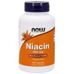 Niatsiin niacin Vitamiin B3 now foods - toidulisandidhulgi.ee